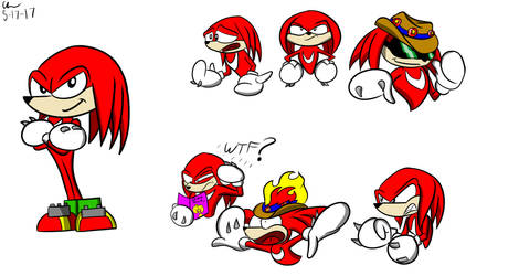Knuckles Doodles by CHCHcartoons