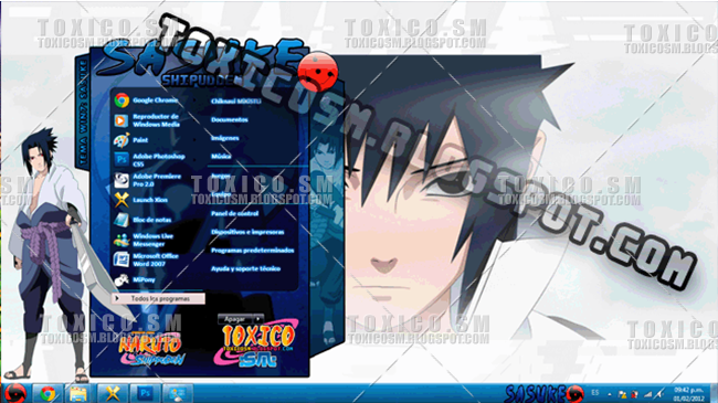 Live wallpaper #2: naruto vs sasuke (1920x1080 16:9) [wallpaper.