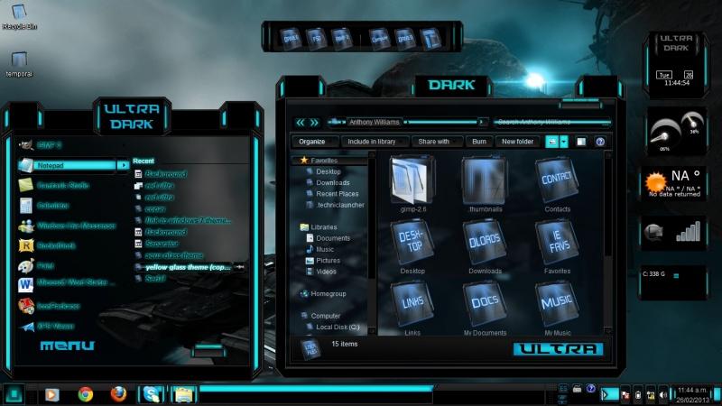Blue Theme Ultra Dark Theme Windows 7 By Toxicosm On Deviantart