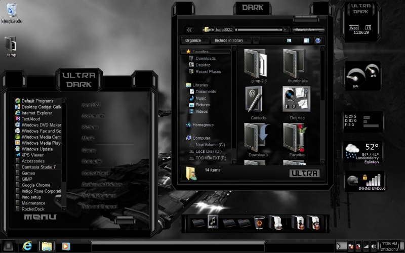 black theme ultra dark windows 7 by toxicosm on deviantart