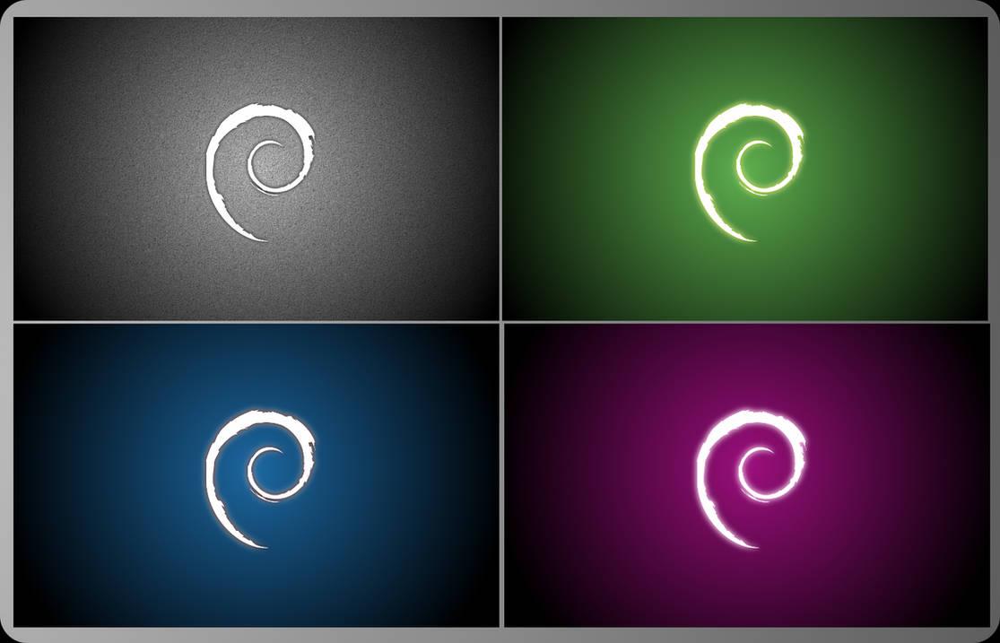 Debian colors by grvrulz