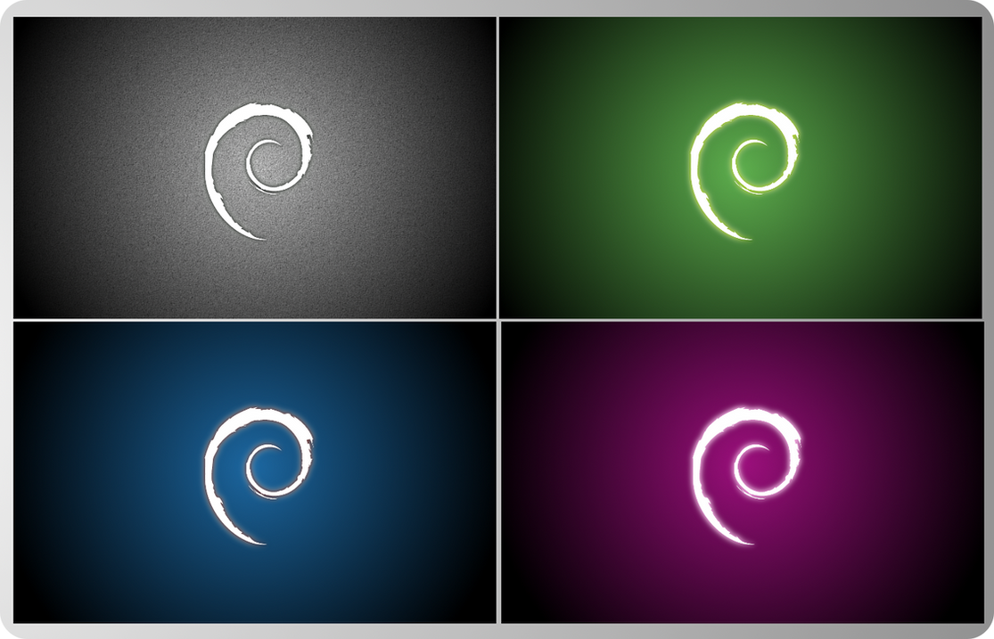 Debian colors by grvrulz