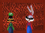 Bugs Bunny and Daffy Duck as Mario and Luigi