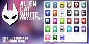 Alien Cat White for foobar2k