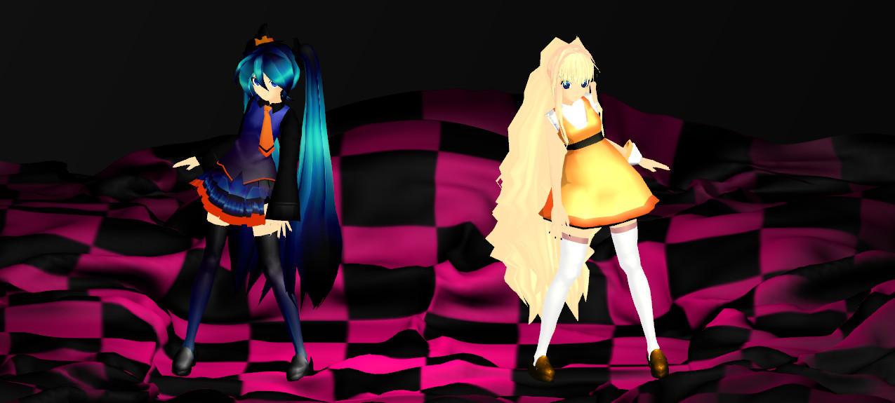 hallowen miku and seeu by princessfox1 on DeviantArt