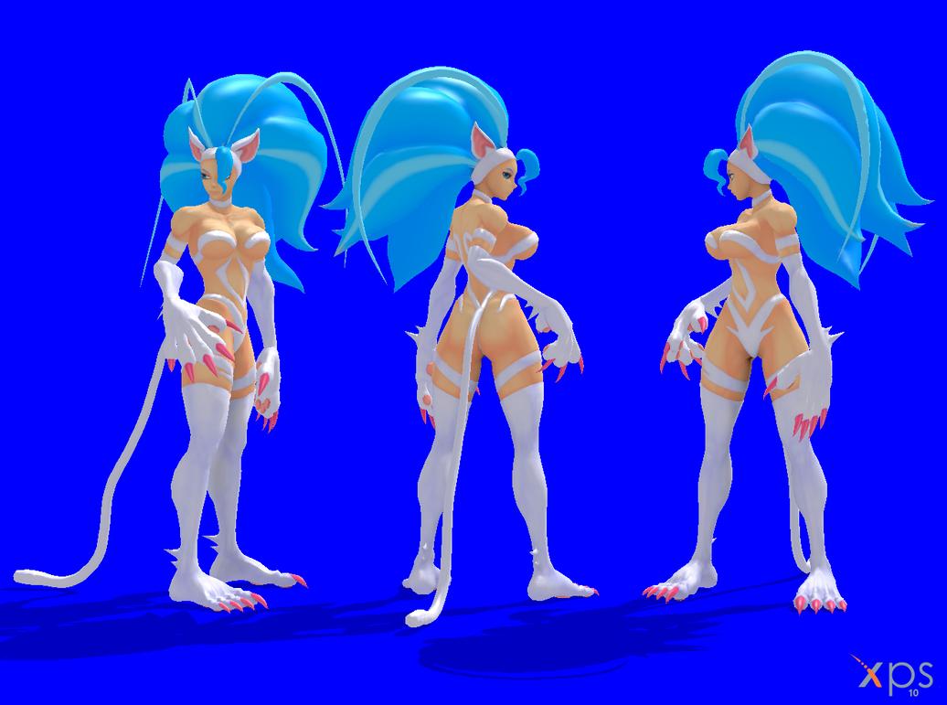 Felicia Standing Back Turn pose by NekoHybrid