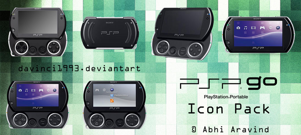 PSP Go Icons Pack by davinci1993