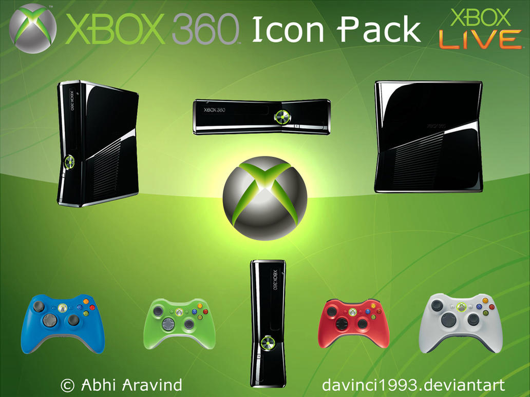 Xbox 360 Icons Pack by davinci1993