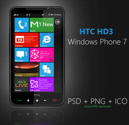 HTC HD3: PSD + PNG + ICO