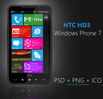 HTC HD3: PSD + PNG + ICO