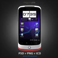 HTC Nexus One: PSD + PNG + ICO by davinci1993