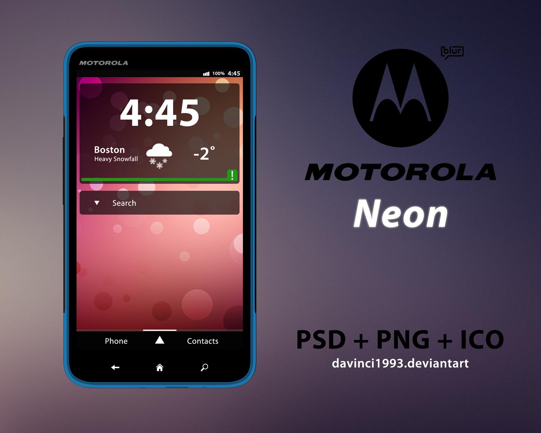 Motorola Neon: PSD + PNG + ICO by davinci1993