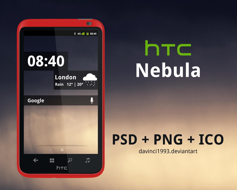 HTC Nebula: PSD + PNG + ICO