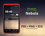 HTC Nebula: PSD + PNG + ICO by davinci1993
