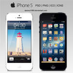 Apple iPhone 5: PSD | PNG | ICO | ICNS by davinci1993