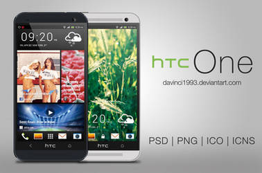 HTC One: PSD | PNG | ICO | ICNS by davinci1993