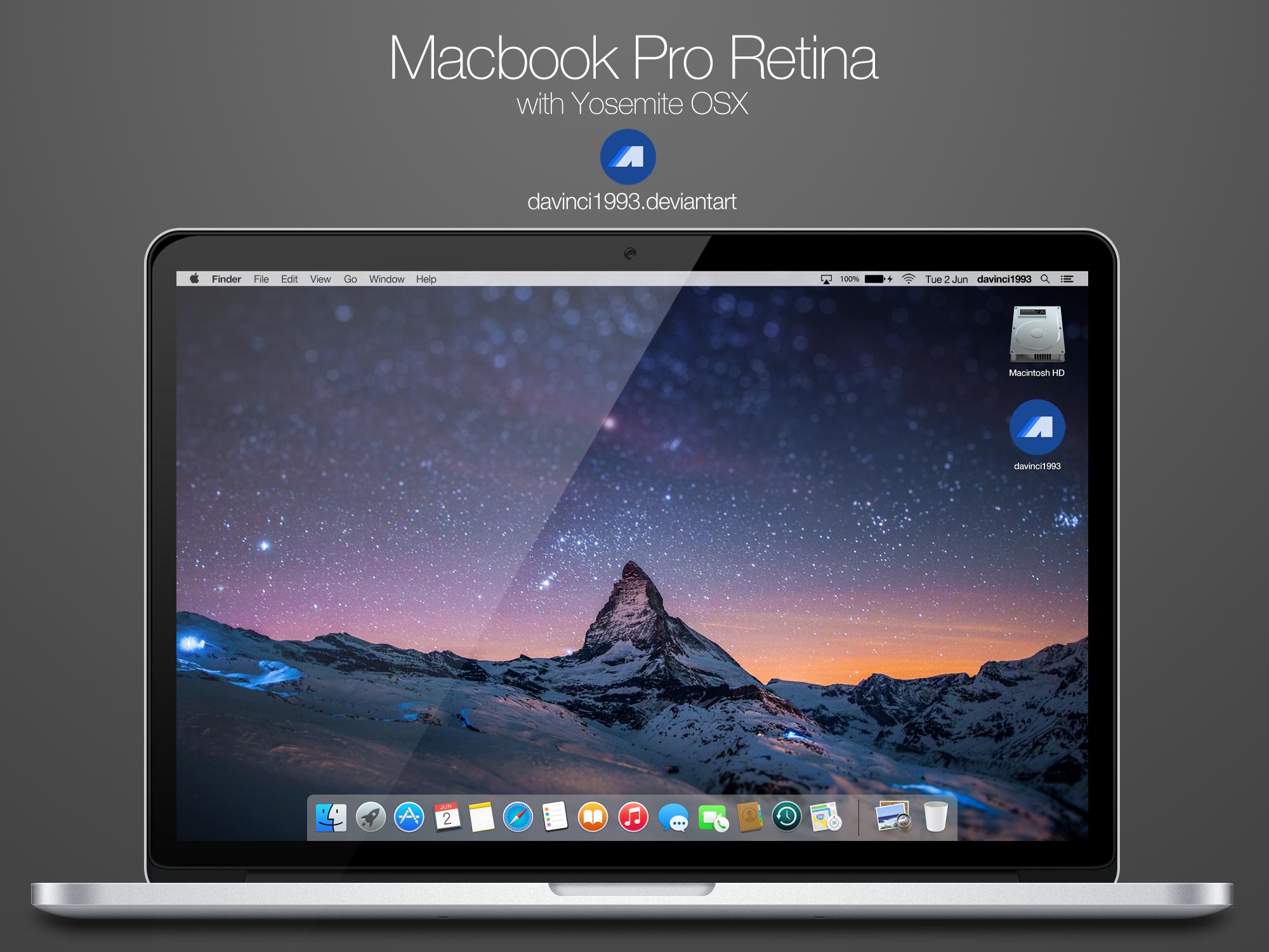 2015 Macbook Pro Retina: PSD | PNG | ICO | ICNS