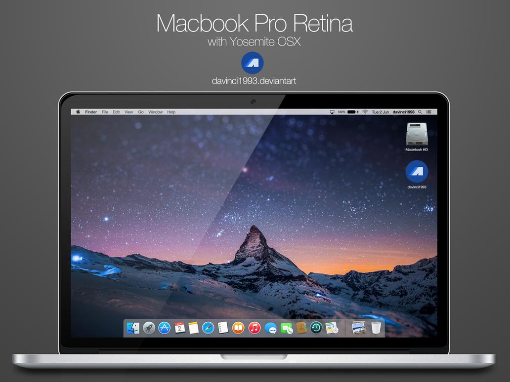 2015 Macbook Pro Retina: PSD | PNG | ICO | ICNS by davinci1993