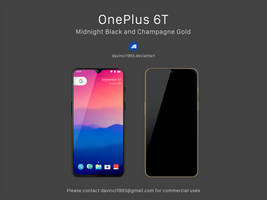 OnePlus 6T: PSD and Mockup