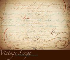 Vintage Script PS Brushes by AsunderDigital