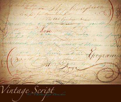 Vintage Script PS Brushes