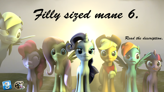 [DL] Filly sized mane 6 pack.