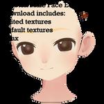 MMD_DL_Saboten Male Face Edit