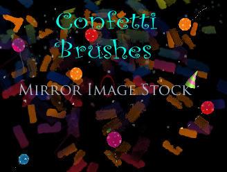 Confetti Brushes by mirrorimagestock