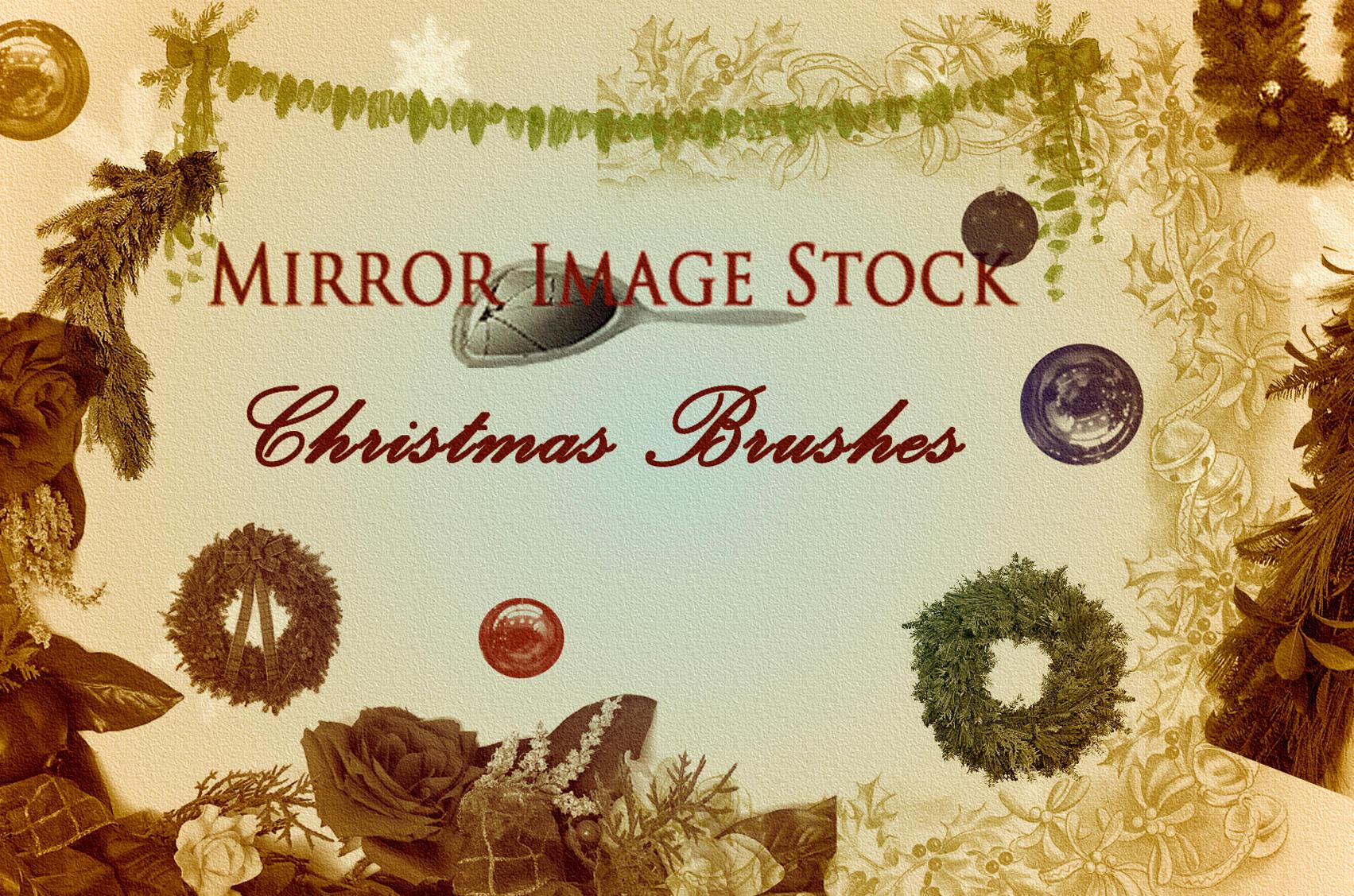 Christmas Brushes by mirrorimagestock