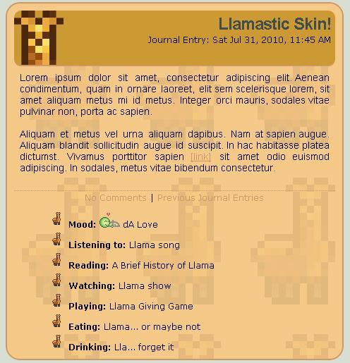 Llama Skin by NAkos