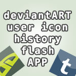 User Icon History Flash App with bonus Tumblr mode