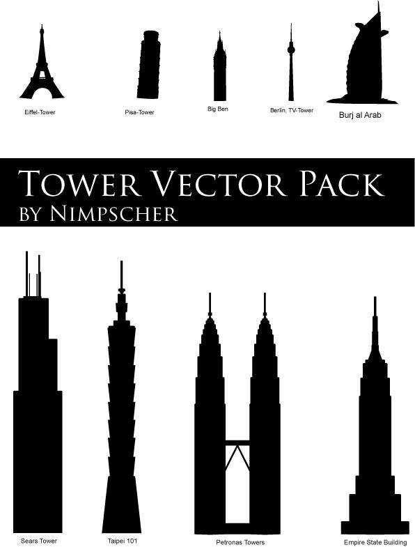Tower Vector Pack by Nimpscher