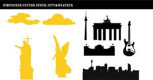 Nimpscher city vector stock