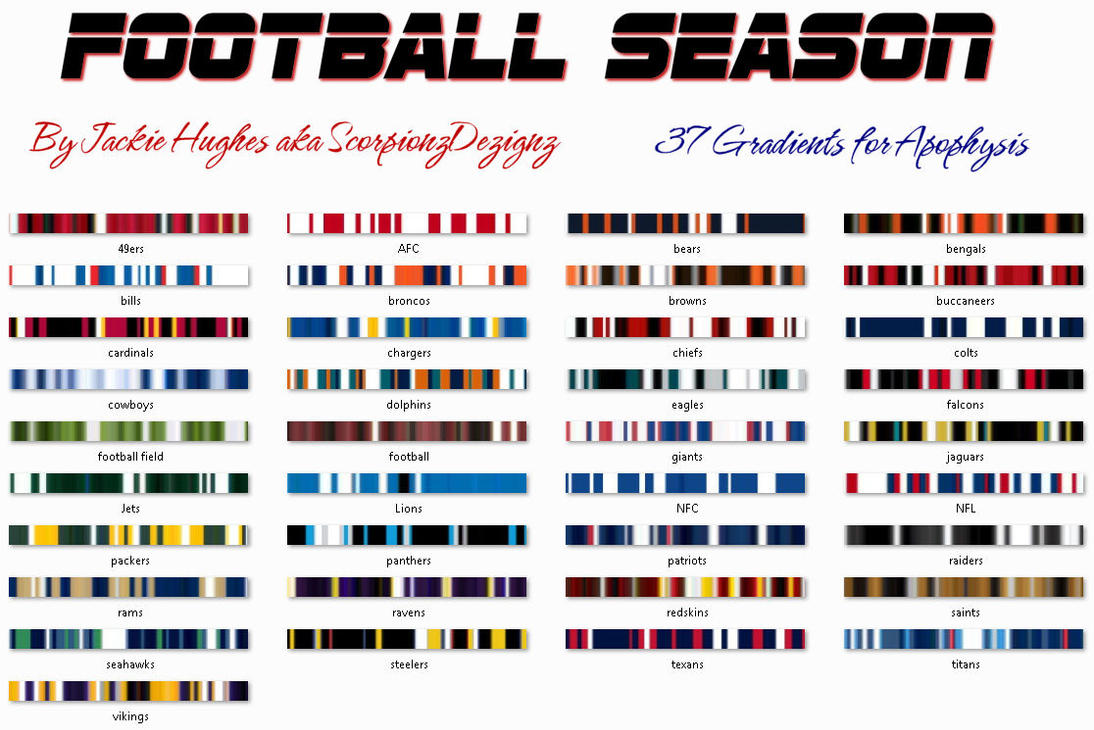 Football Season Gradient Pack by ScorpionzDezignz