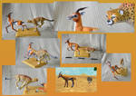 Zoo Tycoon Paper Collection - Cheetah and Gazelle