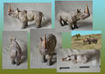 Zoo Tycoon Paper Collection - White Rhinoceros