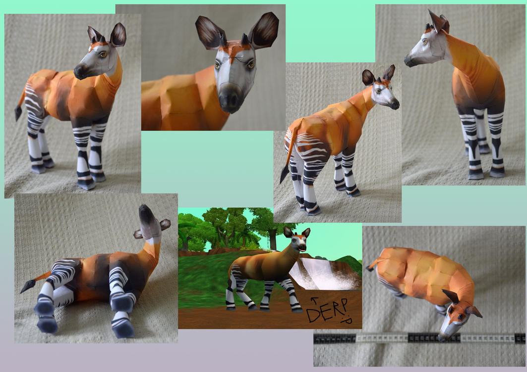 Zoo Tycoon Paper Collection - Okapi by DrWheelieMobile
