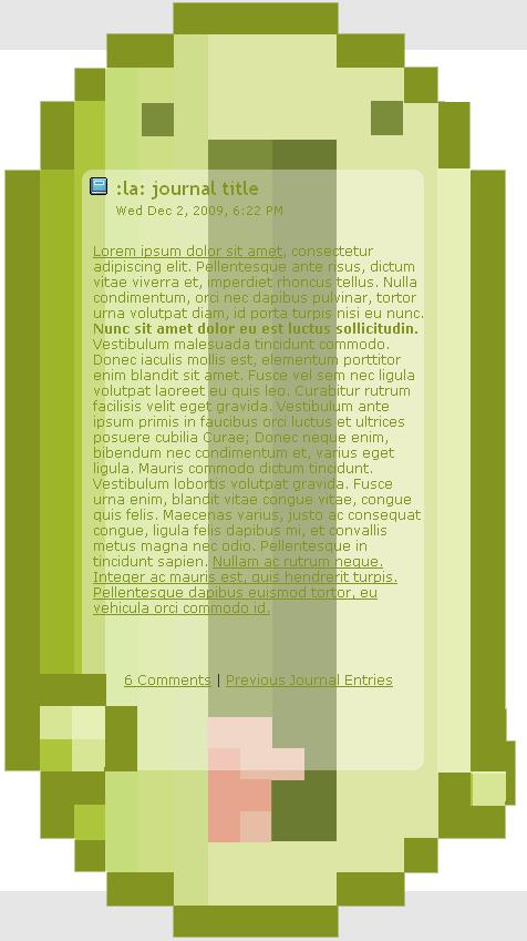 ':La: invasion' journal skin by eXoHeartbeat