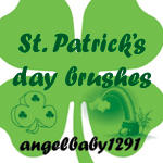 st. patrick's day brushes by angelbaby1291