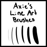Axie's Custom Line Art Brushes