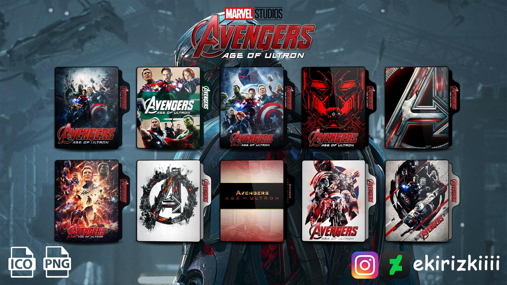 Avengers Age Of Ultron 2015 Folder Icon By Ekirizkiiii On Deviantart