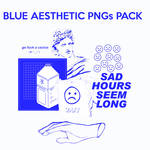 || BLUE AESTHETIC PNGs PACK ||