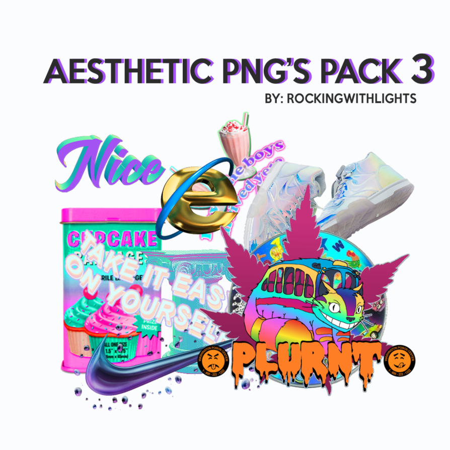 | AESTHETIC PNG'S PACK 3 | by RockingWithLights