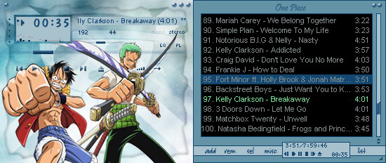 One piece nami v2 modern winamp skin by seraphimax on deviantart.