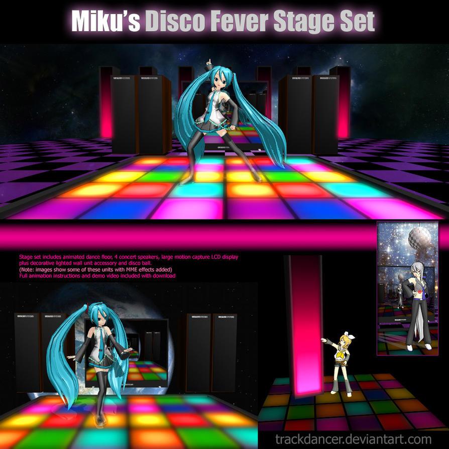 mmd miku 39 s disco fever stage set by trackdancer on deviantart