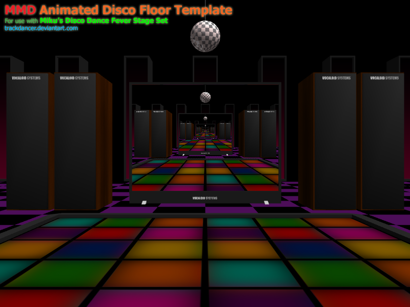 mmd miku s disco fever floor animation template by