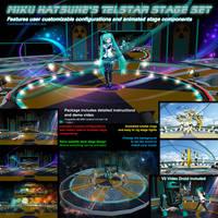 MMD Miku Hatsune Telstar Animated Stage Set by Trackdancer