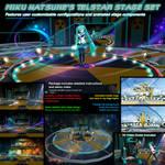 MMD Miku Hatsune Telstar Animated Stage Set