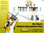 MMD Accessory - Rainbow Microphone Pack