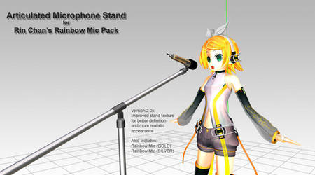 MMD Accessory - articulated Microphone Stand
